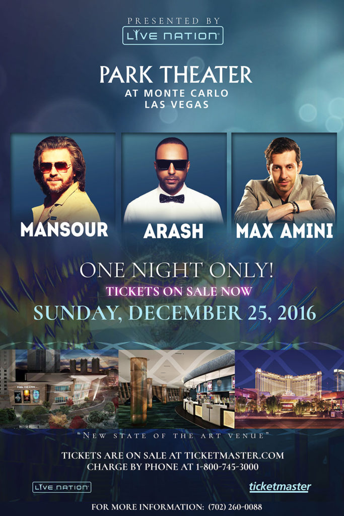 Mansour - Live in Concert @ Park Theater Las Vegas | Las Vegas | Nevada | United States